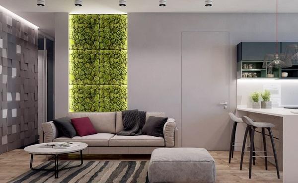 original-wall-decorating-ideas-with-green-moss-living-room-design